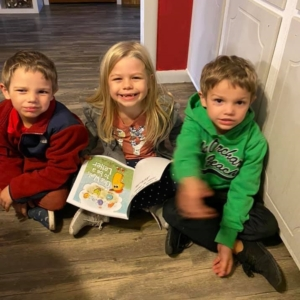 Mike's Kids Reading One Wants to be a Letter Square