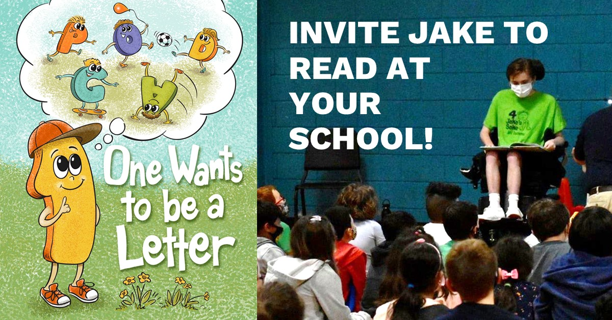 Invite Jake To Read At Your School