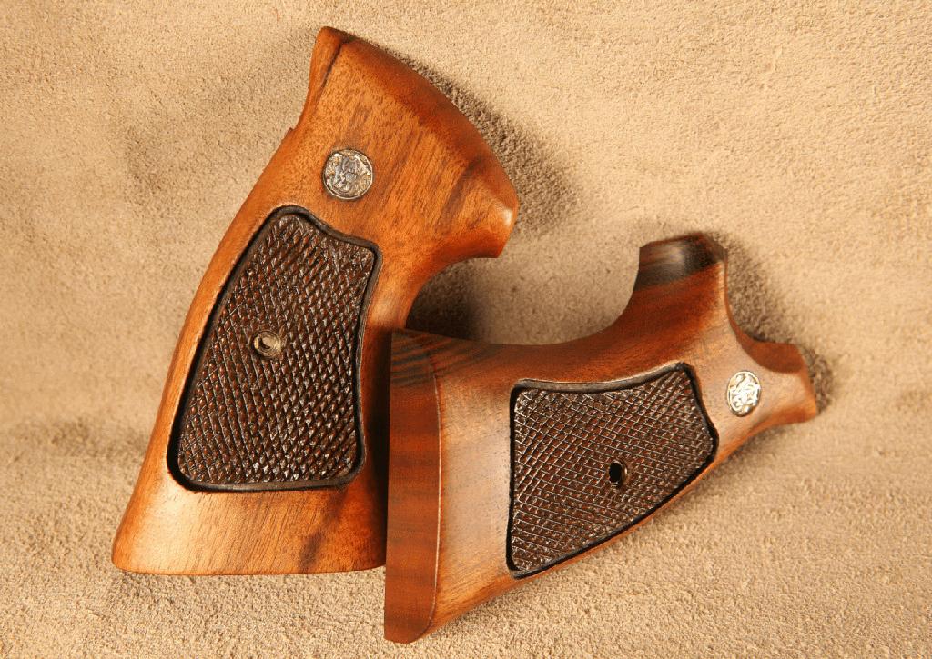 smith and wesson 29 dark checkering satin finish pistol grip refinishing