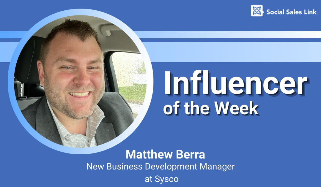 Blog_Influencer of the Week - Matthew Berra