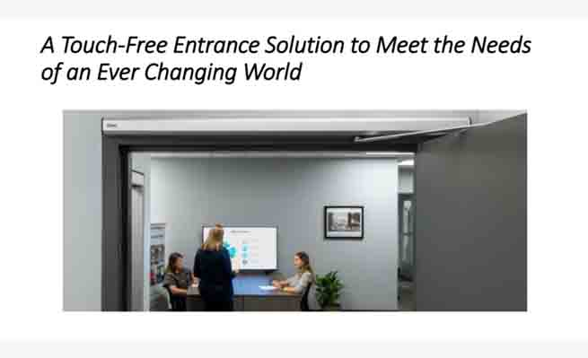 New updates of touchless access control solution