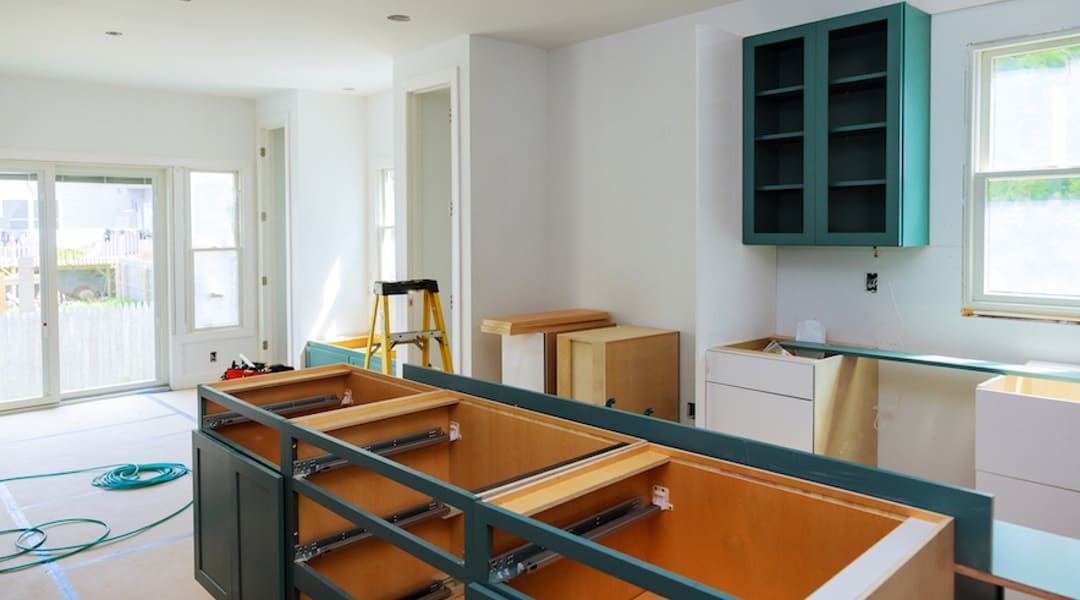 Kitchen cabinets installation