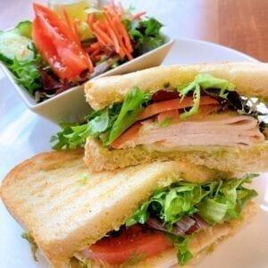 Turkey and Pesto Sandwich
