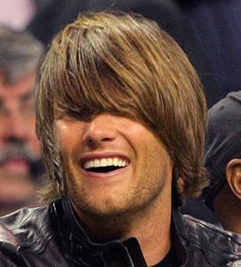 Tom Brady looking like a god damned moron.