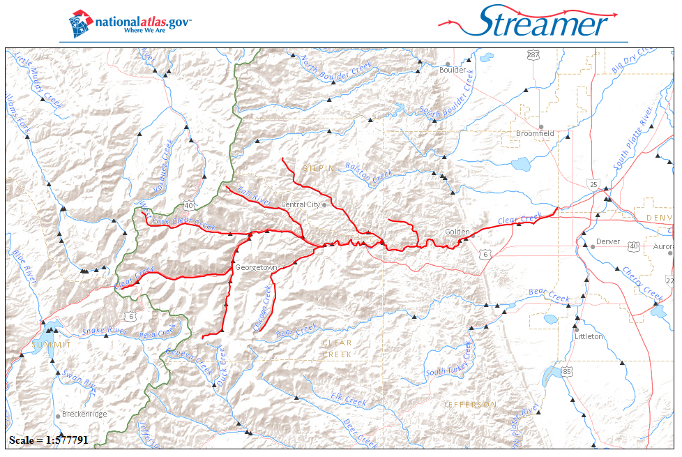 Streamer tool traces rivers from sources to sea
