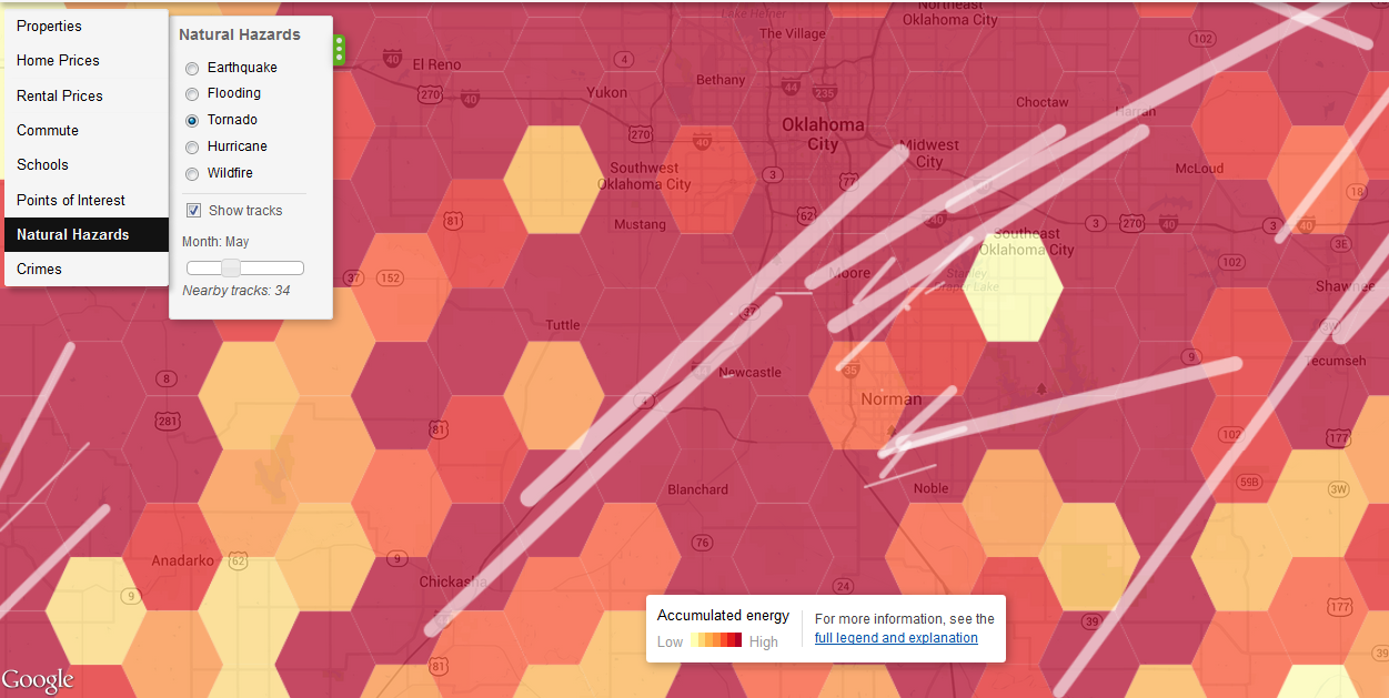 Trulia's mapping tool goes far beyond real estate