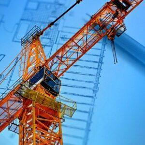 crane and general contracting blueprint