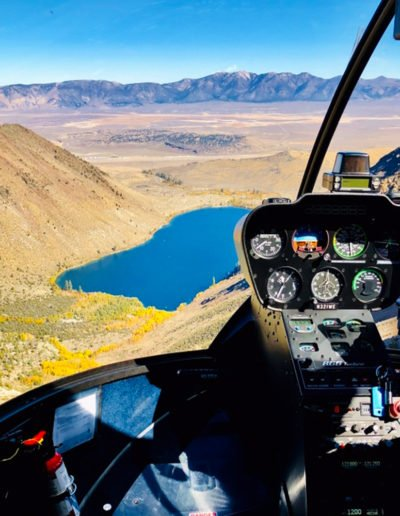 Helicopter Ride in Mono County, California