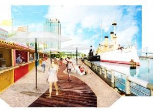 Dockside_Spruce St Harbor Park -boardwalk-rendering