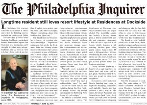 Dockside_Irv Starkman Story_Philadelphia Inquirer_June 2014