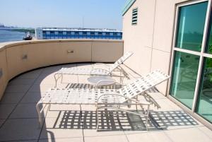 Dockside terrace lounge chairs