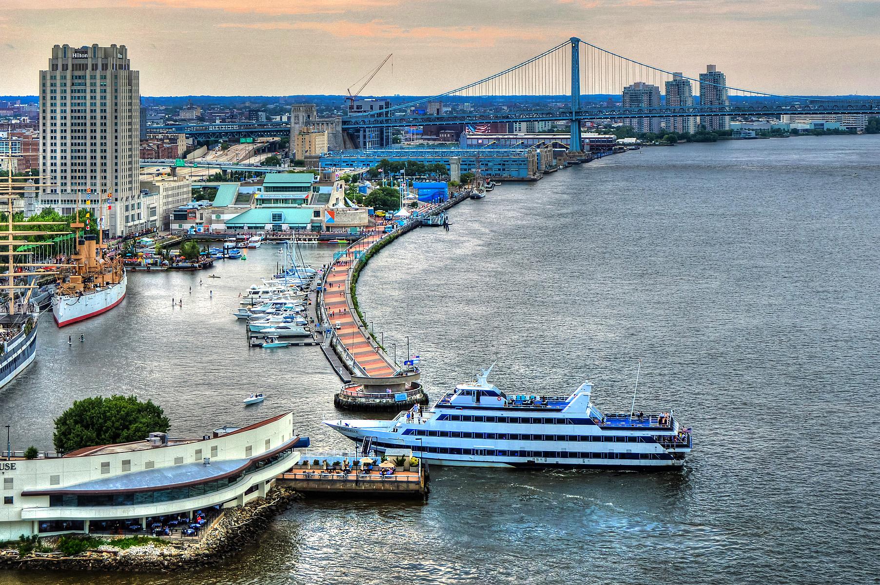 Dockside blog_View of Delaware River & Ben Franklin Bridge