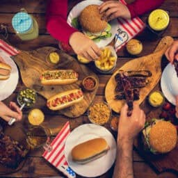 4th of July food spread