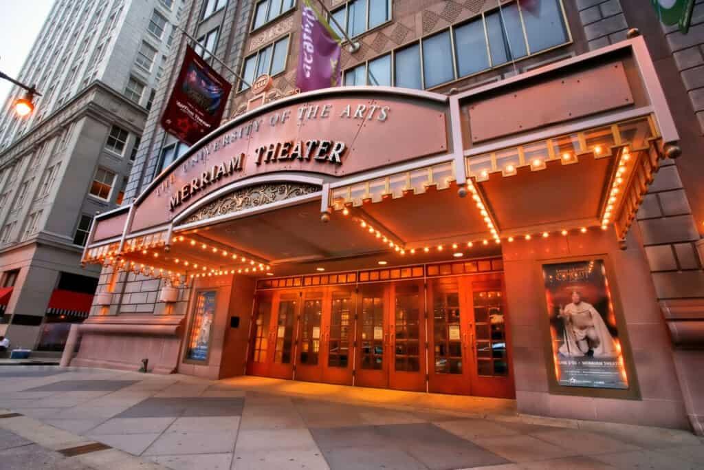 The Merriam Theatre in Philadelphia, PA