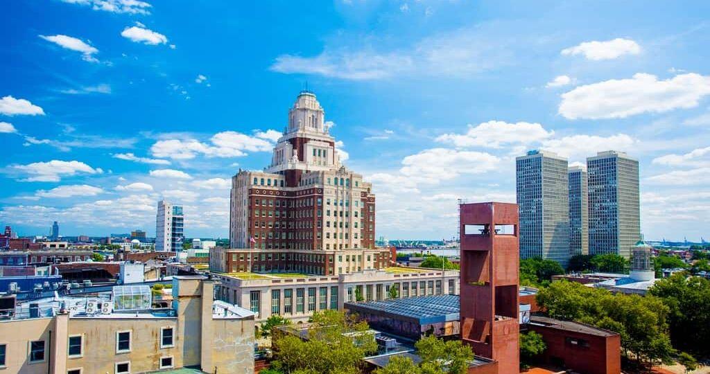 The skyline of Philadelphia's Old City neighborhood