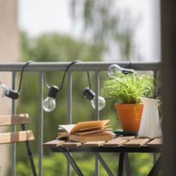 Cozy home balcony