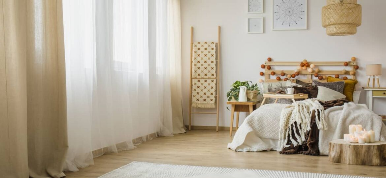 Hygge style bedroom interior