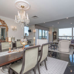 Living room at The Residences at Dockside, Waterfront Condos in Philadelphia