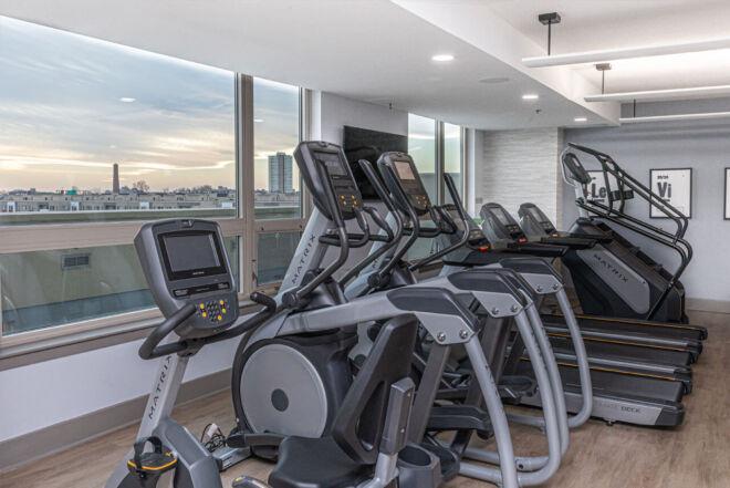 Fitness center at The Residences at Dockside luxury Philadelphia condominiums