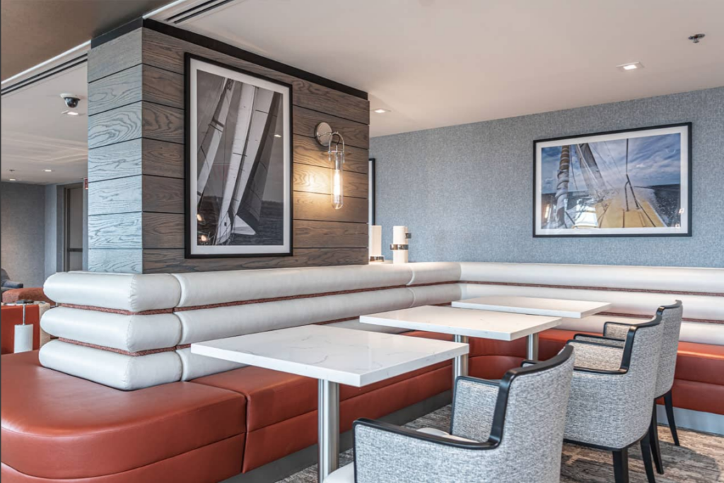 Nautical Design Elements atThe Clubroom at The Residences at Dockside