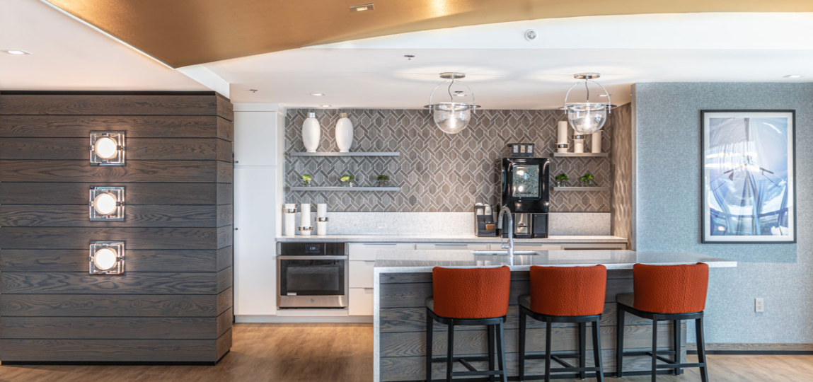 Community Clubroom at The Residences at Dockside