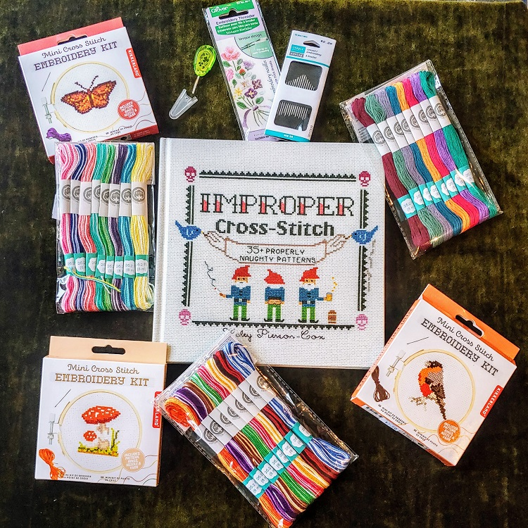 Selection of Cross Stitch instructional book. Kits & Supplies