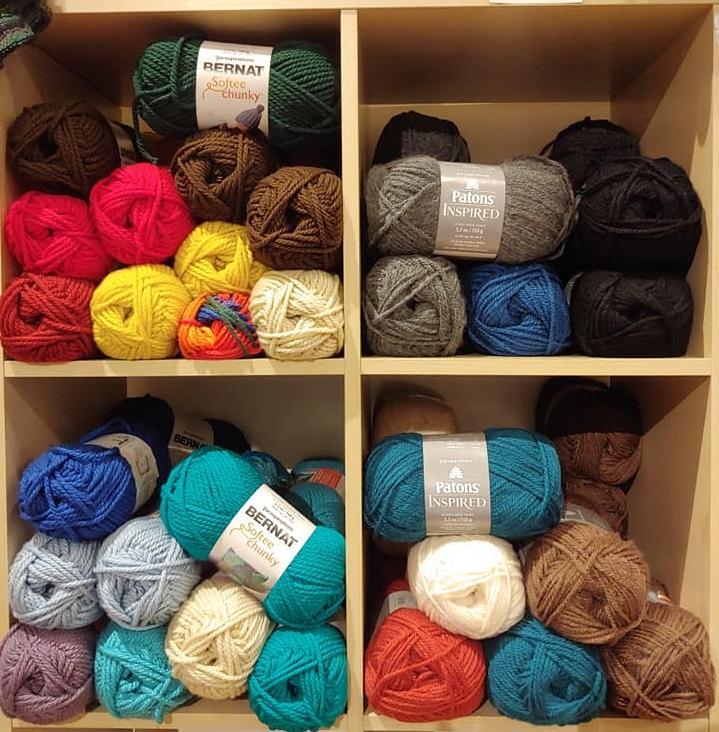 Four Shelves of Acrylic Yarn