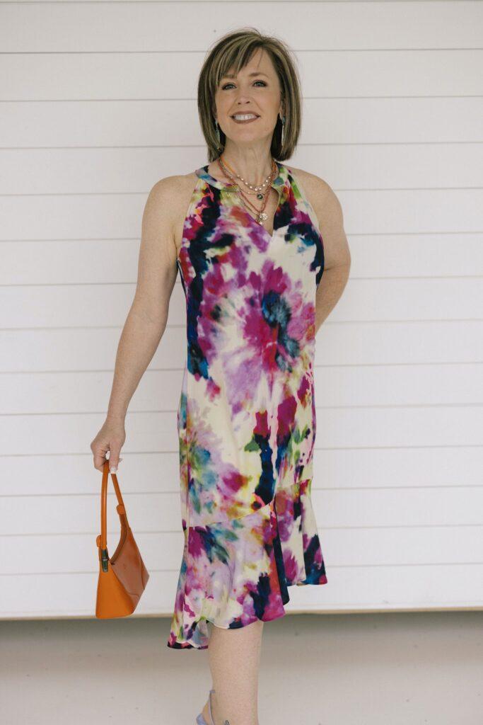 tie dye spring dress