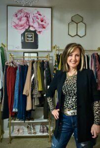 Woman wearing Prada inspired black jacket
