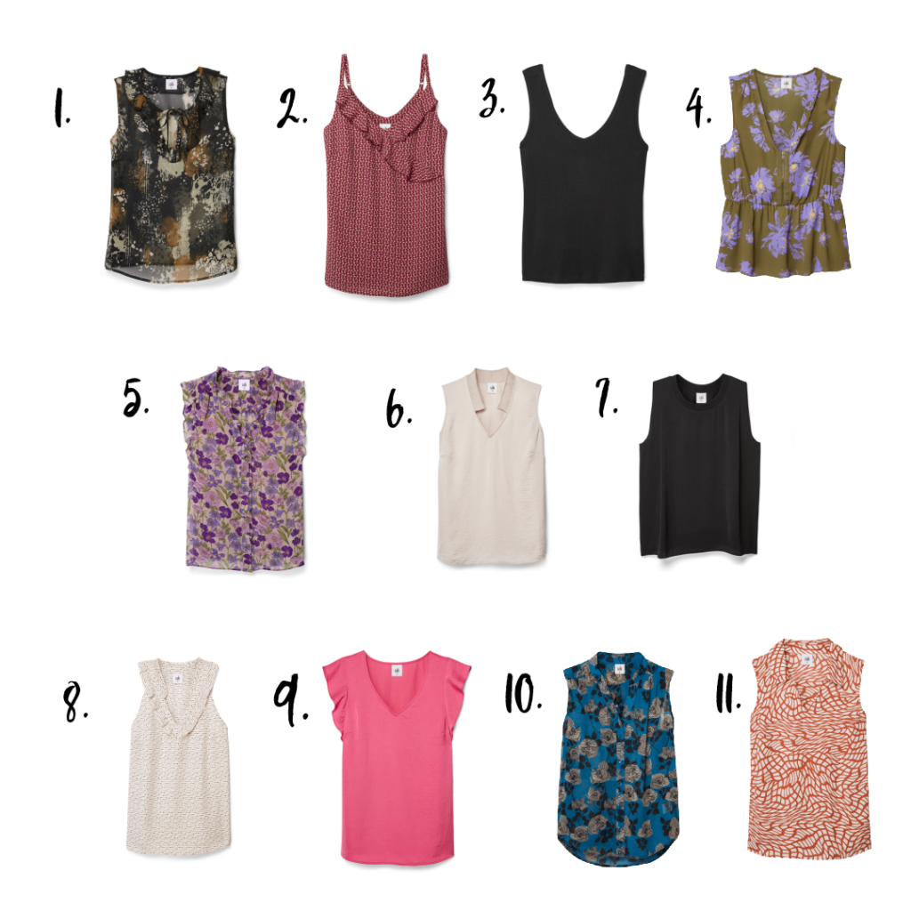 11 sleeveless tops