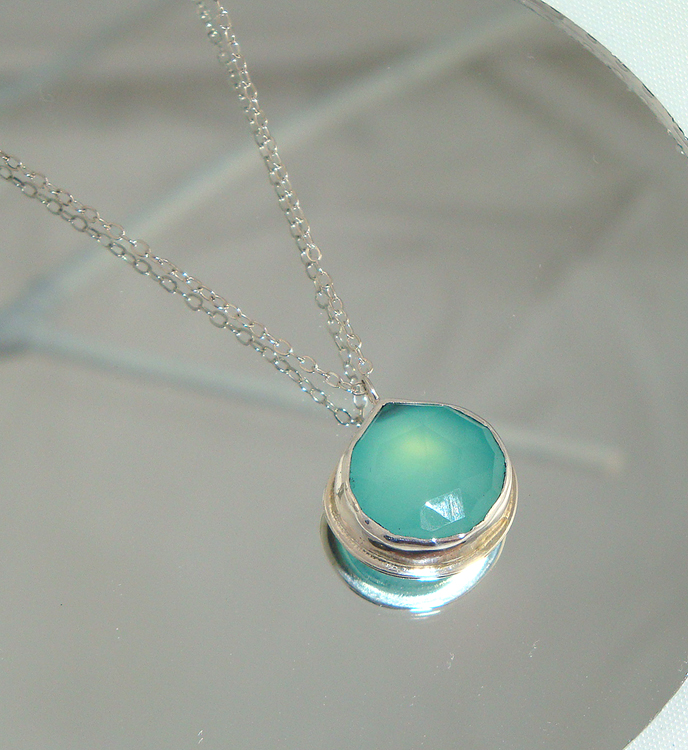 Azure and Silver Necklace
