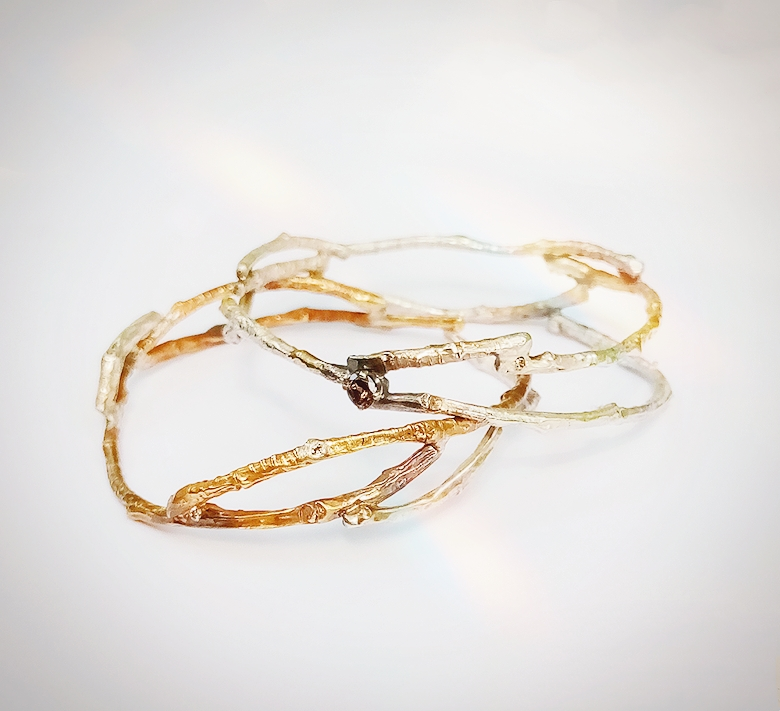 Silver and Gold Branch Bracelet