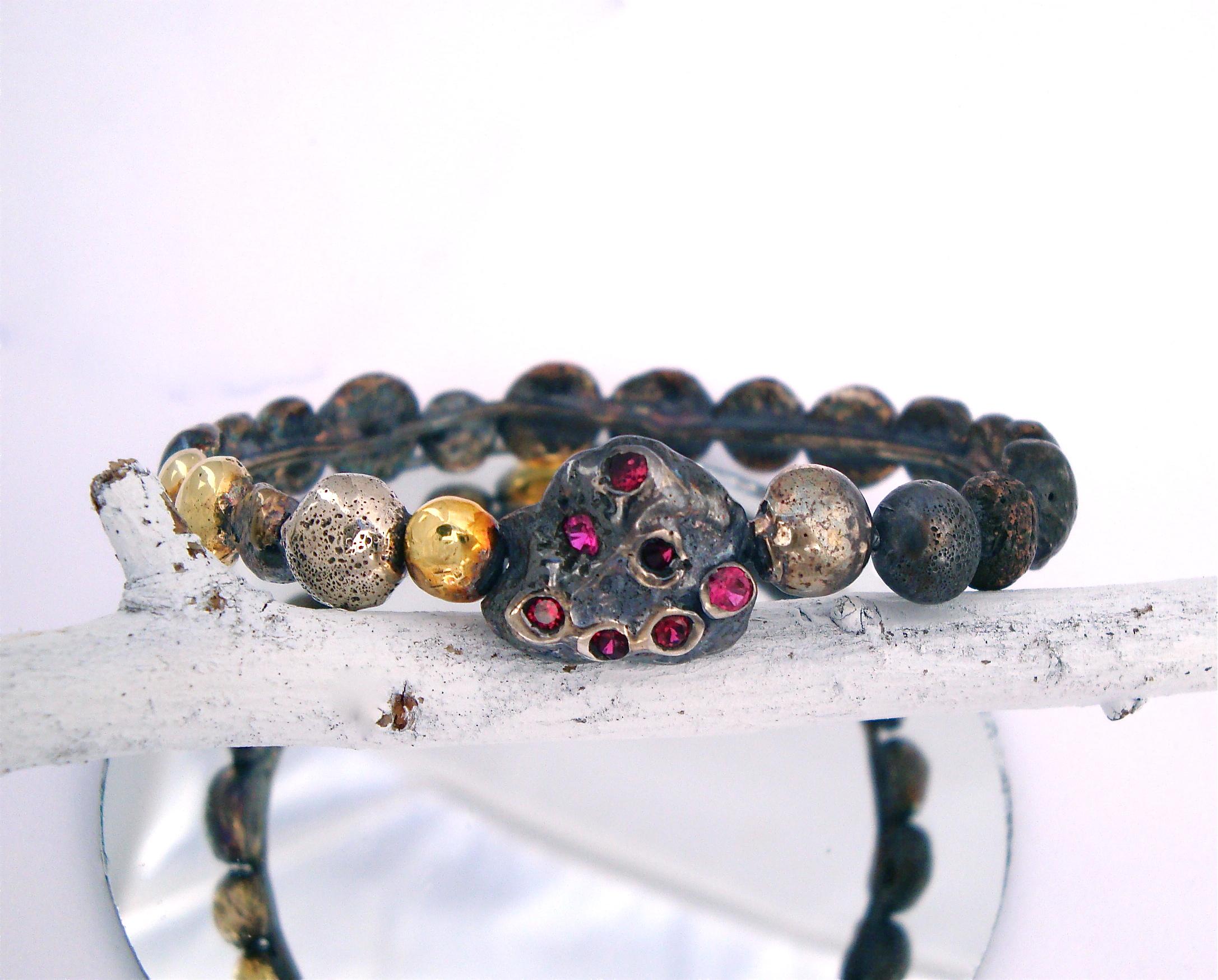 Moulded Ruby Bracelet