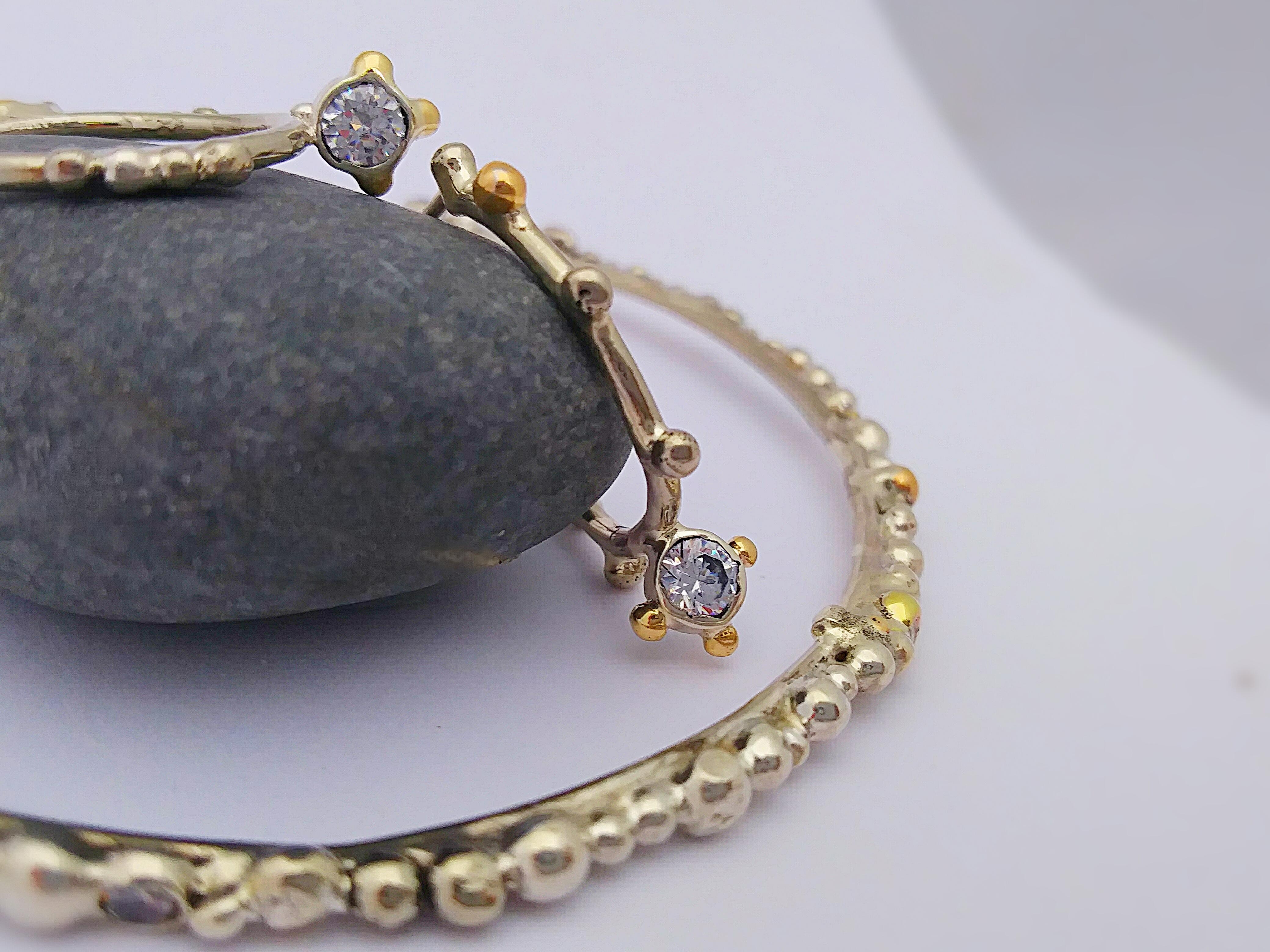 Gunmetal and Gold Earrings