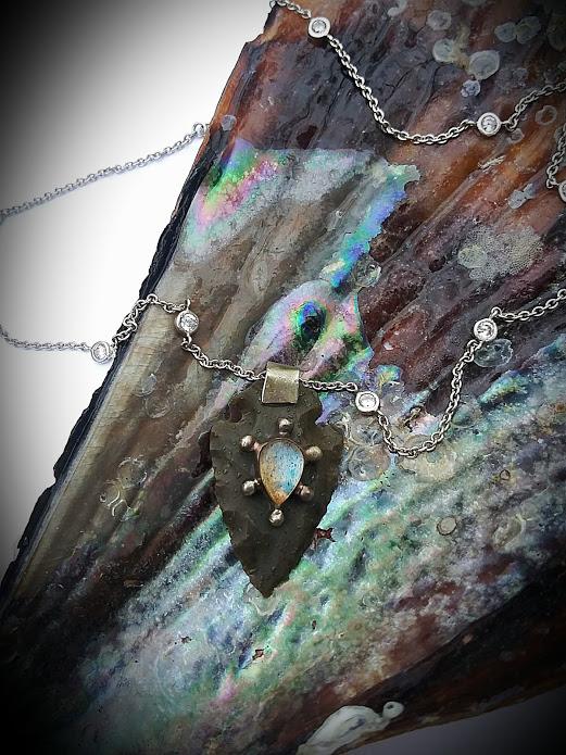Labradorite Arrowhead Necklace