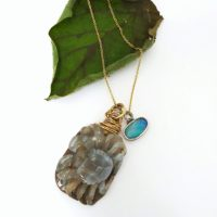 Crab & Opal Necklace