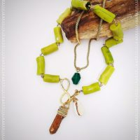 Green Coral Necklace