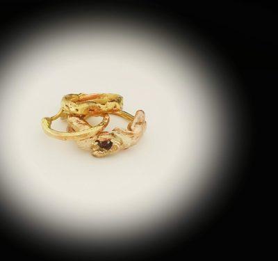 Golden Citrine Ring Set