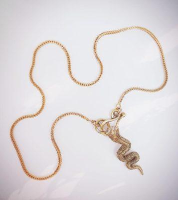 Diamond Snake Pendant