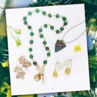 Green Malachite Cowry Necklace