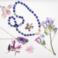 Iolite Beaded Necklace