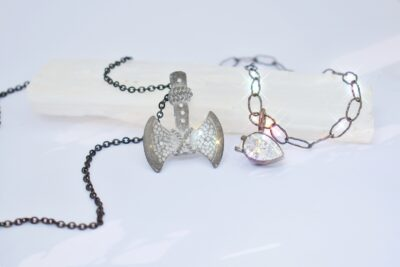 Pear and Diamond Necklace
