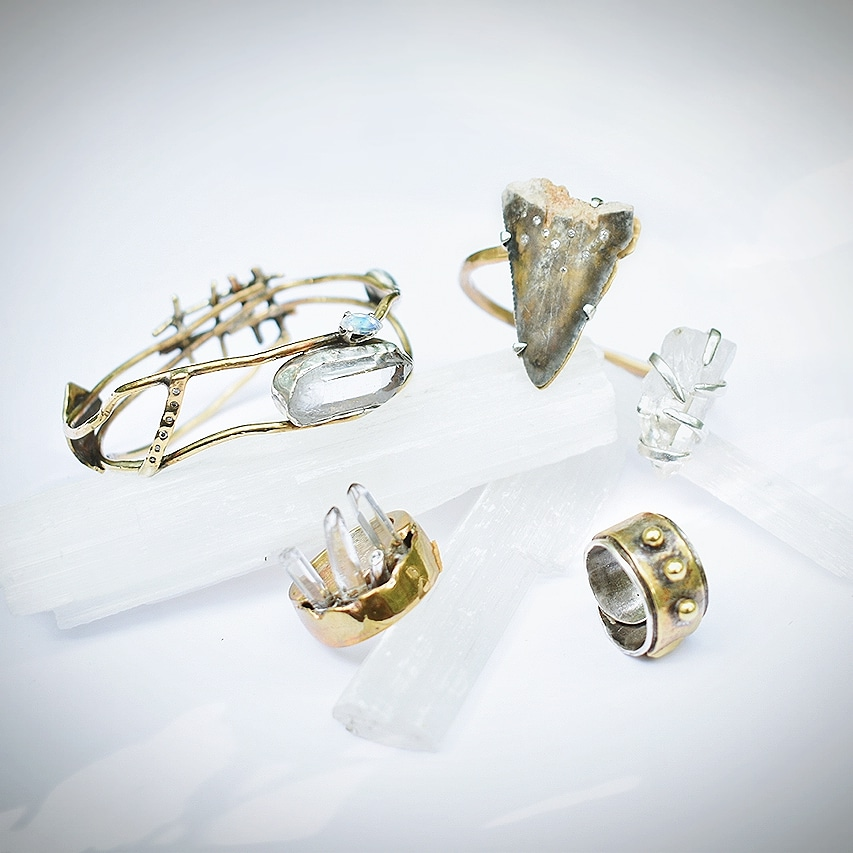 Moonstone and Diamond Bangle