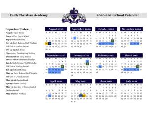 DCA 2020-2021 Calendar