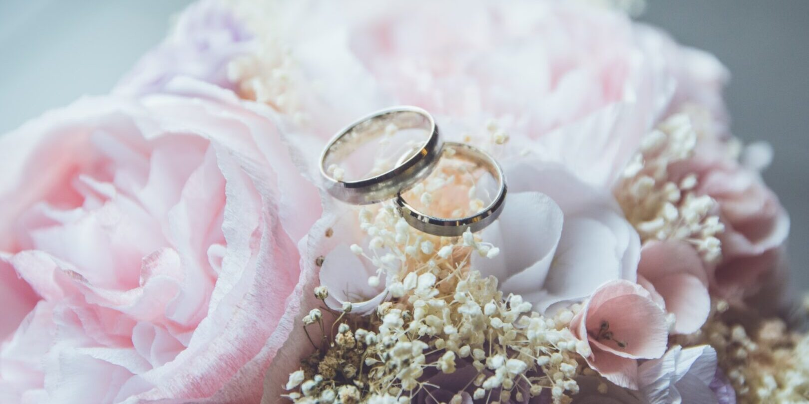 Wedding packages with rings and flowers in Los Angeles, CA