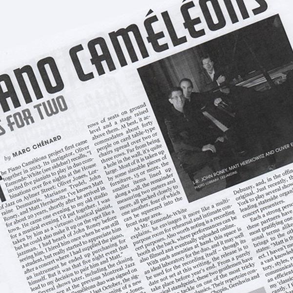 Piano Caméléons: Keys for Two   La Scena Musicale