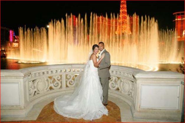 wedding at bellagio fountain