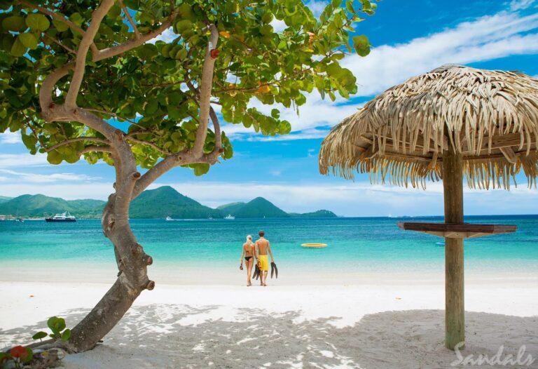 Couple On Beach St Lucia 2
