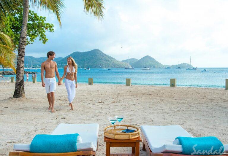 Couple On Beach St Lucia