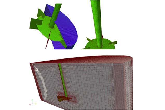 Theoretical & Computational Material Mixing using Rotating Impeller